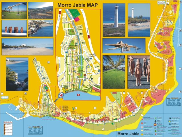 Morro Jable and Jandía map in Fuerteventura
